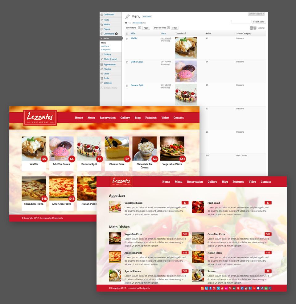 custom post menu